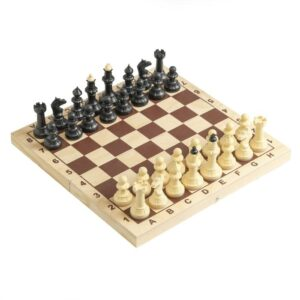 Шахматы (доска дерево 30х30 см, фигуры пластик, король h=7см) 57161