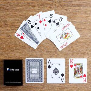 """Игральные карты """"Poker club"""", пластиковые, синяя рубашка 50403"""