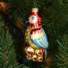 Игрушка на ёлку Попугай (стекло) 51146