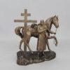 Статуэтка Покаяние казака, с крестом 55225