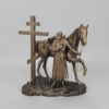Статуэтка Покаяние казака, с крестом 55225 90530