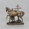 Статуэтка Покаяние казака, с крестом 55225 90532