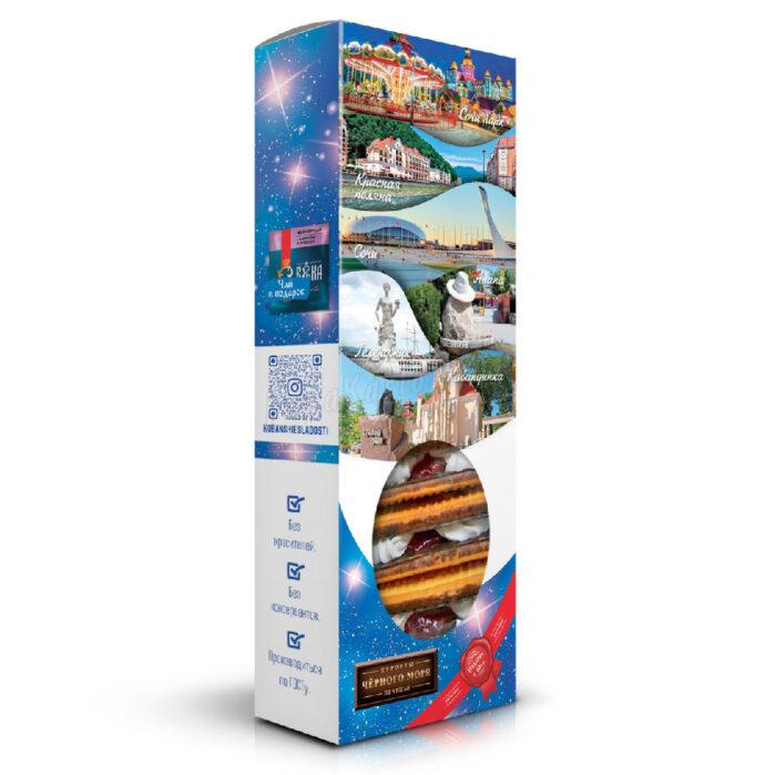 """Печенье сахарное глазир. с белковой прослойкой и джемом """"Авангард"""" Сочи 56107"""