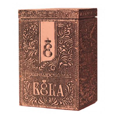 Чай черный с чабрецом и душицей в металлической шкатулке 100 гр. 57008