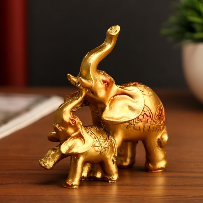 Слон со слонёнком мозаика на попоне 56016