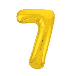 """Шар фольгированный 40"""" «Цифра 7», цвет золотой, Slim 56257"""