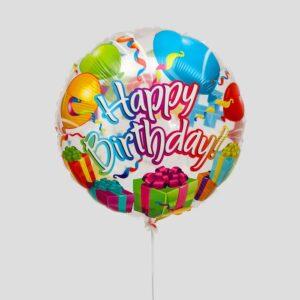 """Шар фольгированный 18"""" «С днём рождения», конфетти 56181"""