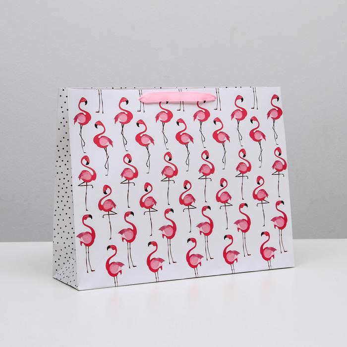 Пакет «Фламинго», L 40 × 31 × 11,5 см 56033