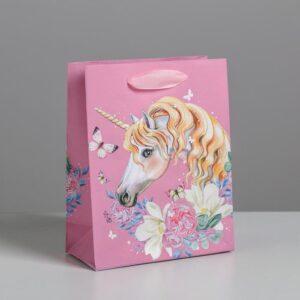 Пакет «Единорог»», S 12 × 15 × 5,5 см 57084