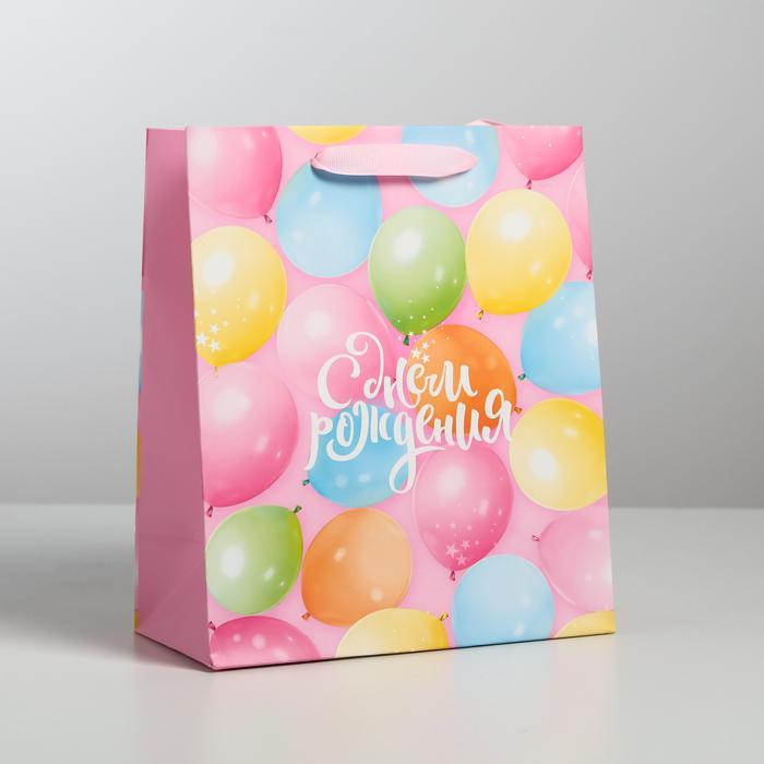 Пакет «С Днем Рождения!», ML 23 × 27 × 11,5 см 56039