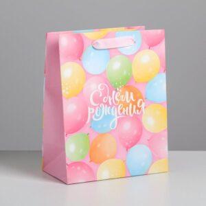 Пакет «С Днем Рождения!», MS 18 × 23 × 10 см 56040