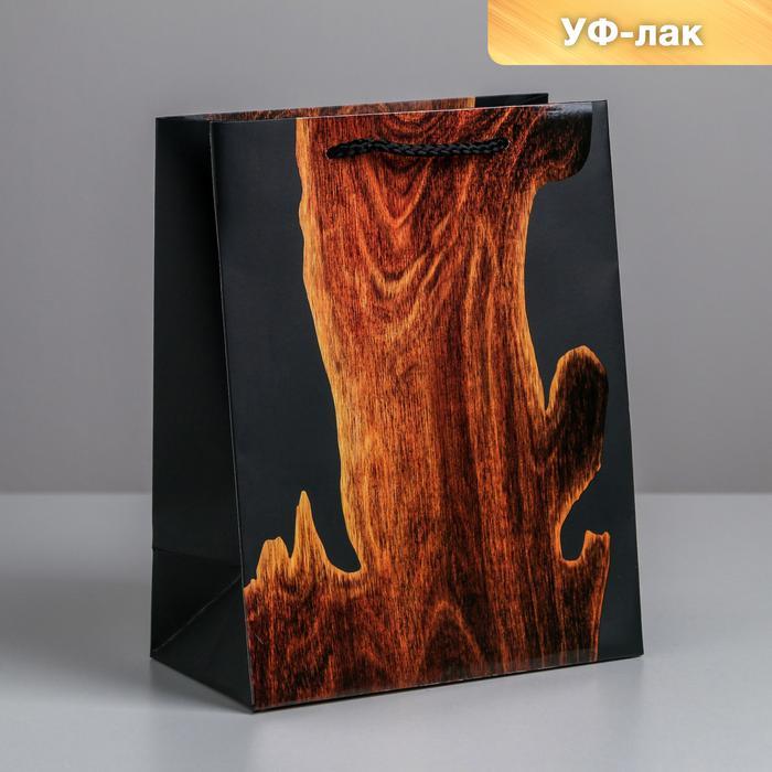 Пакет Wood, MS 18 × 23 × 10 см 57130