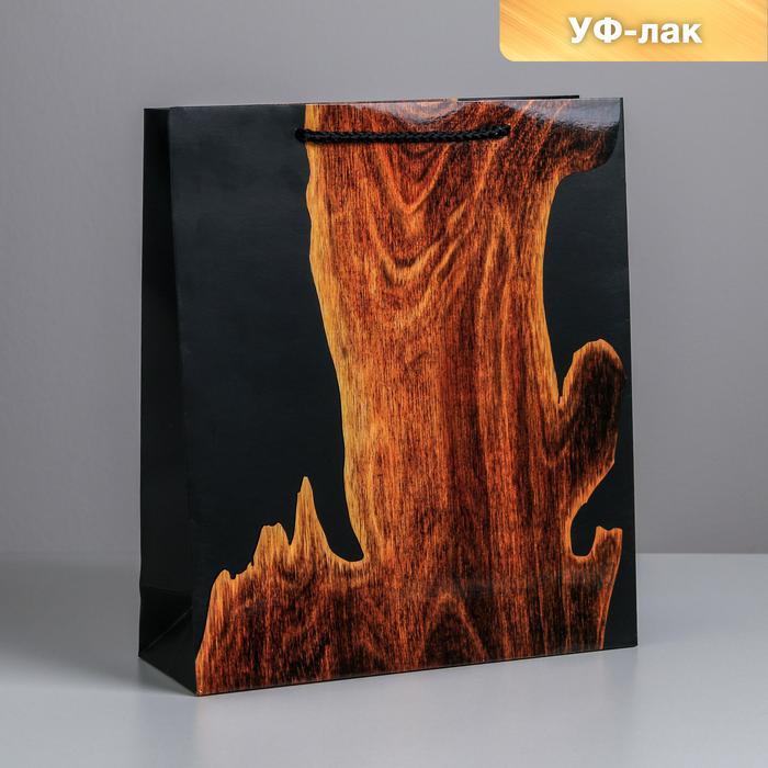 Пакет Wood, M 26 × 30 × 9 см 57128