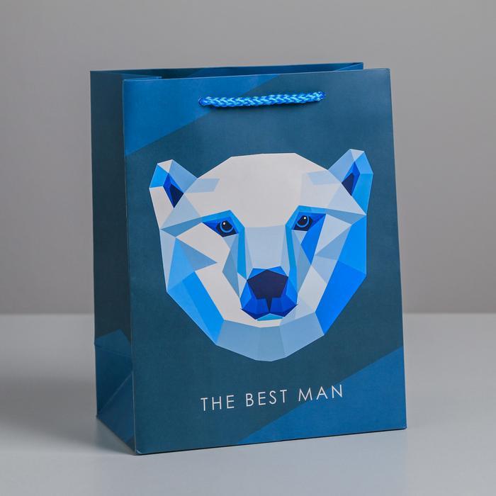 Пакет The best man, MS 18 × 23 × 10 см 57124