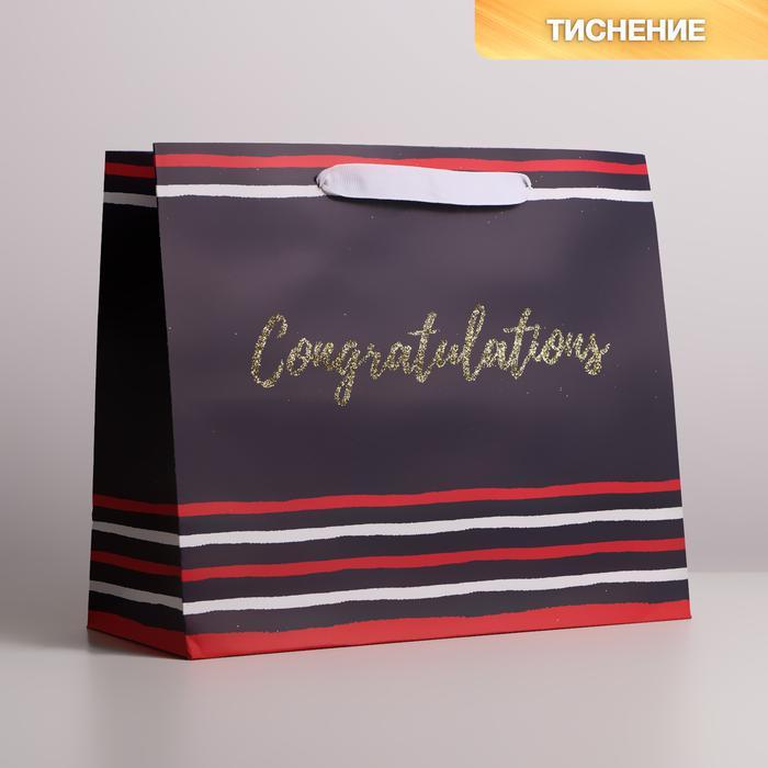 Пакет крафтовый Congratulations, ML 27 × 23 × 11.5 см 57067
