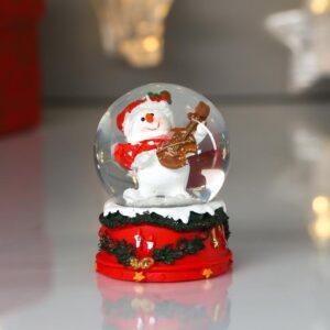 """Снежный шар """"Снеговичок играет на скрипке"""" 53949"""