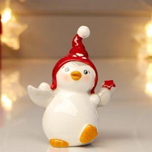 Пингвинчик в красном колпачке, со звёздочкой в крыле 53960