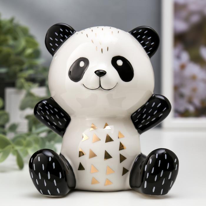 Весёлая панда бело-чёрный с золотом 56123