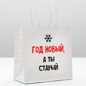 Пакет «Год новый, а ты старый», 22 × 22 × 11 см 54006