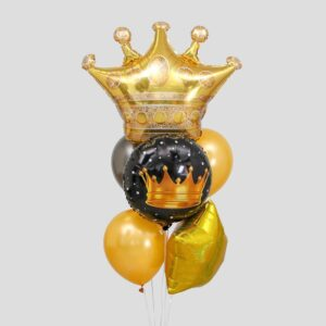 Букет из шаров «Король вечеринки», круг, звезда, набор 7 шт. (без гелия) 54366