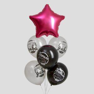 Букет из шаров «День рождения. Без фильтров», латекс, фольга, набор 6 шт. (без гелия) 54473