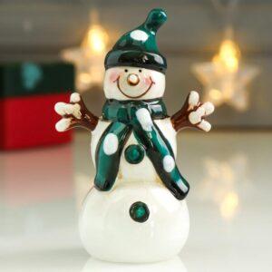 Снеговик в зелёном колпаке и шафике 53457