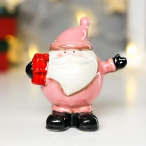 Дед Мороз-пузан в розовом кафтане с подарком 54022