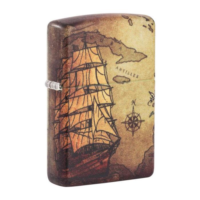 Зажигалка Zippo (зиппо) №49355 Pirate Ship