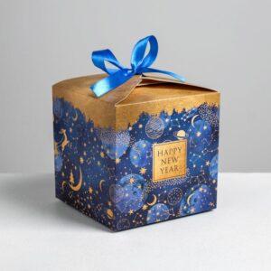 Складная коробка «Новогоднее волшебство», 12 × 12 × 12 см 57742