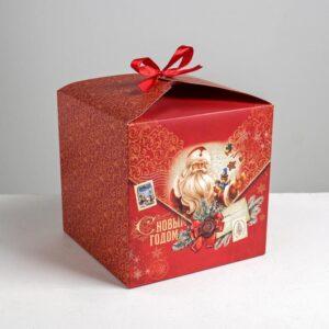 Складная коробка «Уютного нового года», 18 × 18 × 18 см 54430