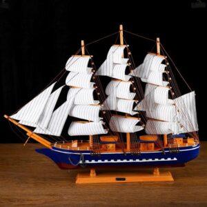 Корабль «Орфей», борта синие, паруса белые 54927