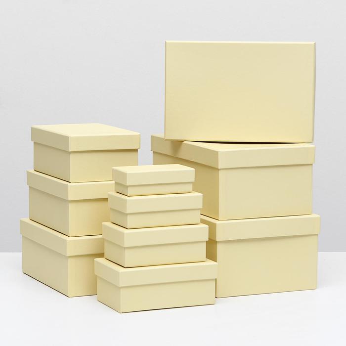 Коробка прямоугольная бежевая 55771