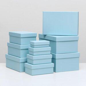 Прямоугольная коробка голубая 55772
