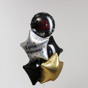 Букет из шаров «С днём рождения. Пиратская вечеринка» набор 5 шт. (без гелия) 54361