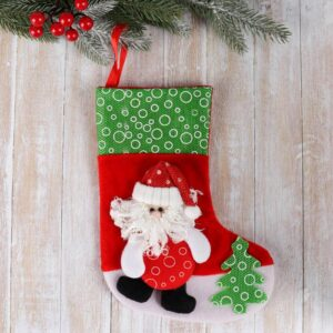 """Носок для подарков """"Дед Мороз с ёлочкой"""" 51628"""