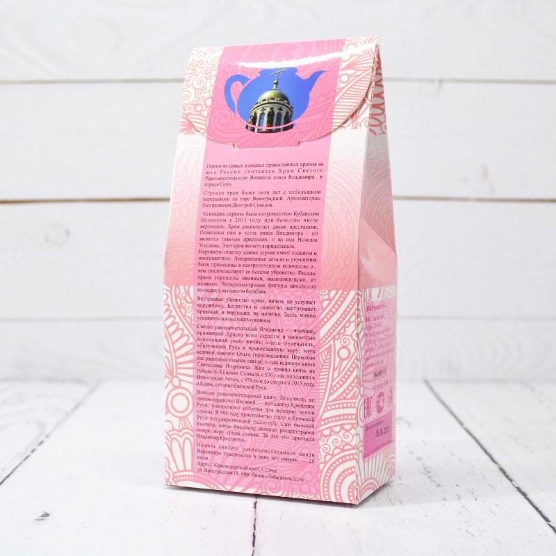 Чай черный с лепестками ароматом роз 75 г. Адлер Чай Сочи 53274 96826