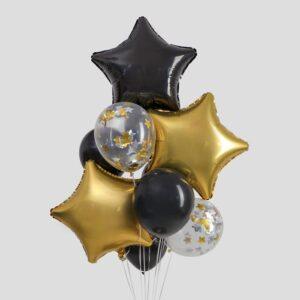 """Набор шаров """"Черное золото"""", в наборе 10 шт. (без гелия) 54326"""