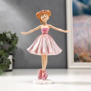 Балерина с венком, в розовом платье и пуантах 55620