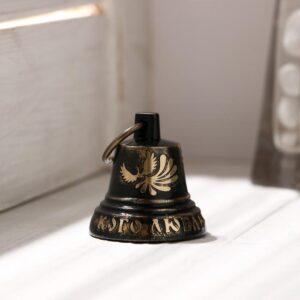 """Колокольчик Валдайский""""№2. Кого люблю-тому дарю"""", гравированный, с ушком, d=35 мм 54910"""