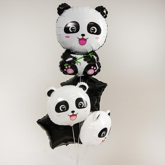 Букет из шаров «Весёлые панды», фольга, набор 5 шт. 56134