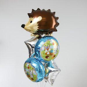 Букет из шаров «Весёлый ёж», набор 5 шт. 56135