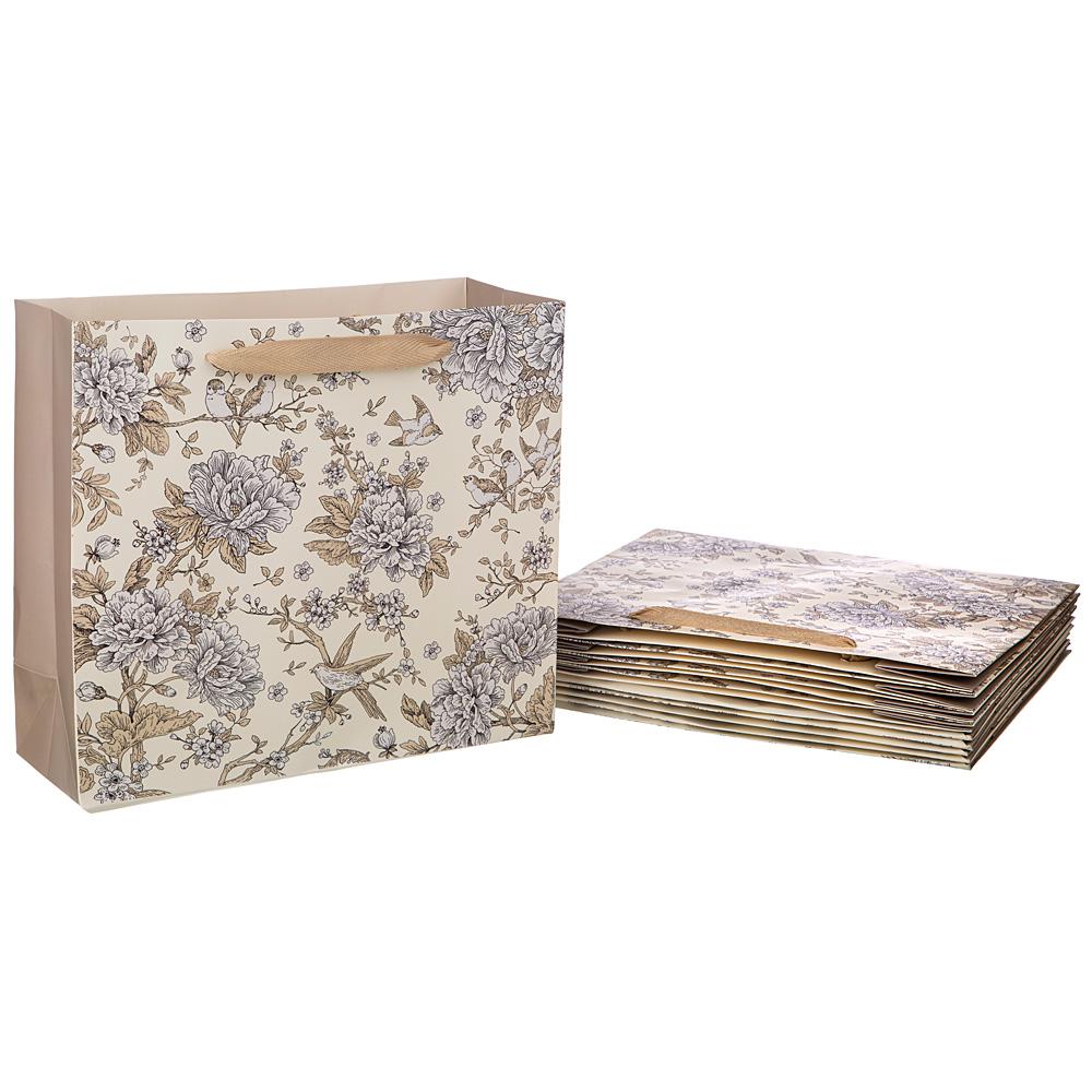 """Бумажный пакет """"Royal garden"""" 30*27*12 см 54557"""