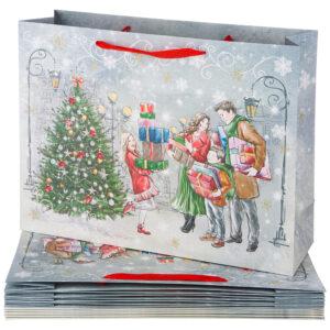 """Бумажный пакет """"Новый год"""" 46,5*35*14,5 см 57664"""