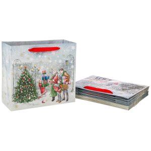 """Бумажный пакет """"Новый год"""" 30*27*12 см 57665"""