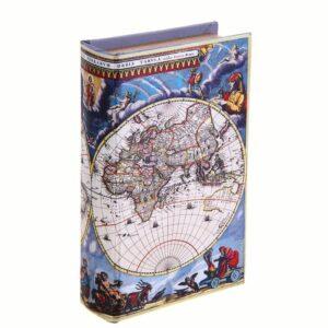 "Сейф-книга ""Карта путешественника"" обтянута шёлком 52404"