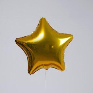 """Шар фольгированный 19"""", звезда, цвет золотой 56211"""