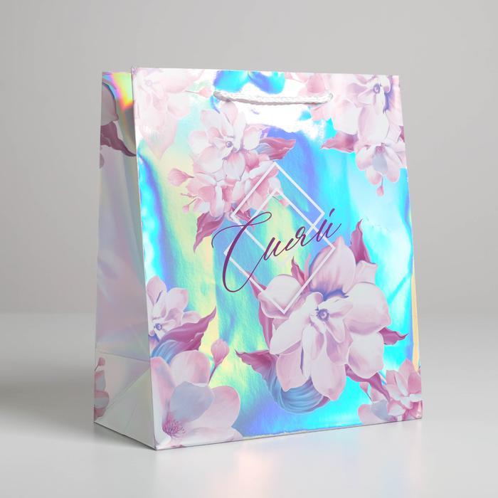 Пакет «Сияй», 23 × 27 × 11,5 см 56056