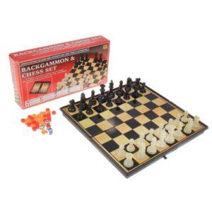 Игра настольная 3 в 1: шашки, шахматы, нарды 41626
