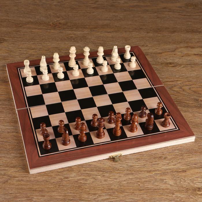 Шахматные фигуры, дерево, высота короля 5.5 см 57160