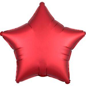 """Шар фольгированный 18"""" «Звезда», сатин люкс, цвет красный ягодный 56189"""